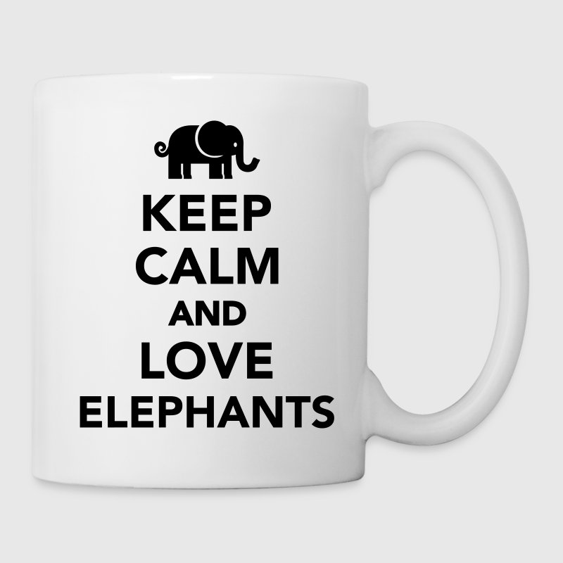 Keep calm and love Elephants Bottles & Mugs - Coffee/Tea Mug