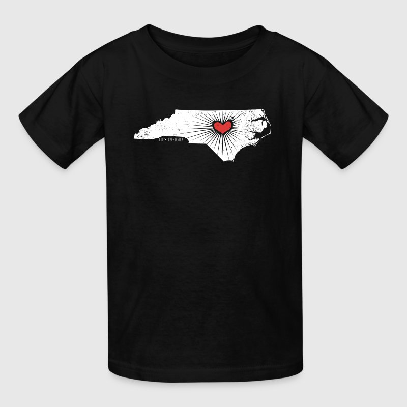 NC State Wolfpack Love - White/Red - Kids' T-Shirt