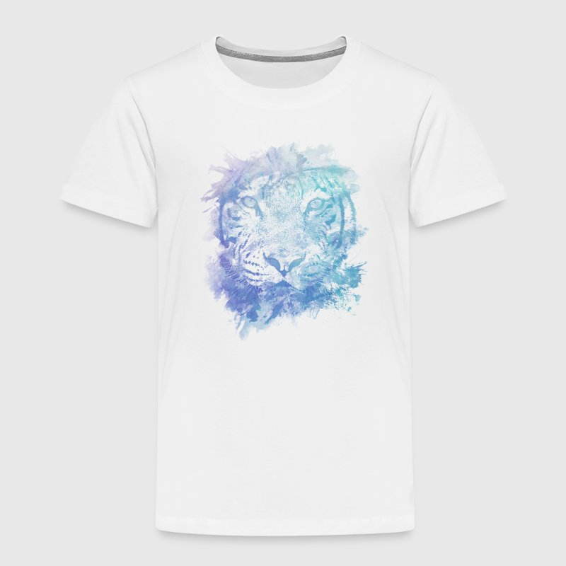 Tiger Face - Abstract Creative Watercolor Style Baby & Toddler Shirts - Toddler Premium T-Shirt