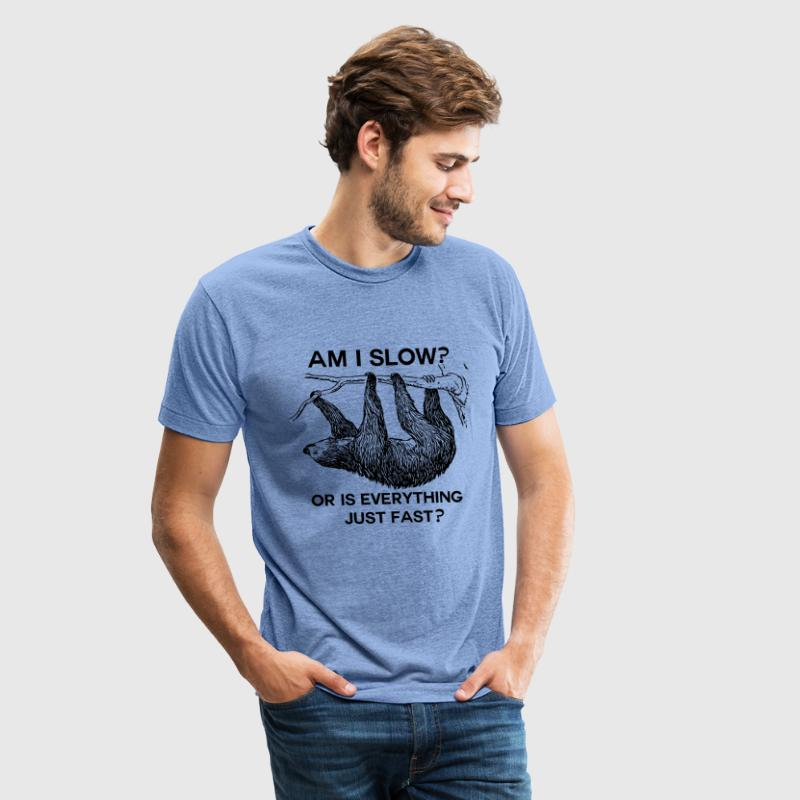 Sloth am I slow?  - Unisex Tri-Blend T-Shirt by American Apparel