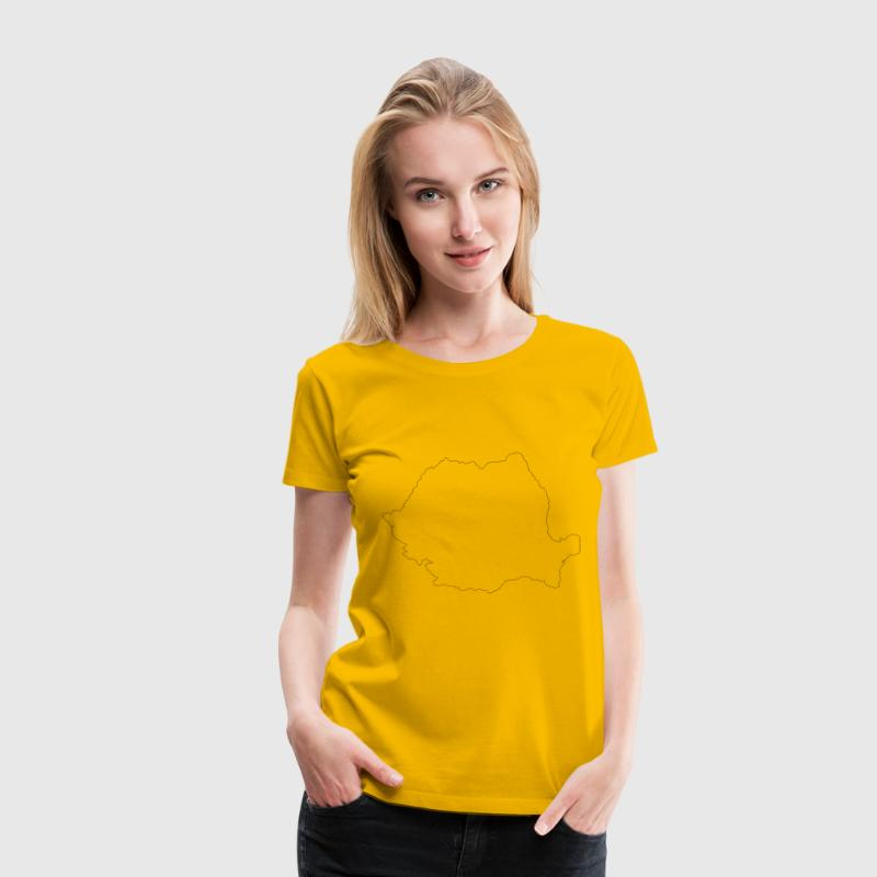 romania map contour - Women's Premium T-Shirt