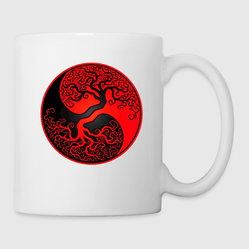 Red and Black Tree of Life Yin Yang Bottles & Mugs - Coffee/Tea Mug