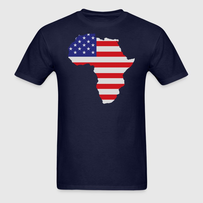 Africa United States Flag T-Shirts - Men's T-Shirt