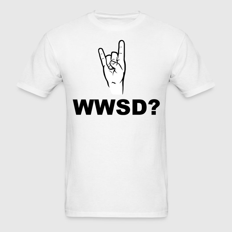 What Would Satan Do?  WWSD? T-Shirts - Men's T-Shirt