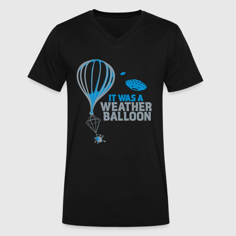 Weather Balloon UFO X-Files - Men's V-Neck T-Shirt by Canvas