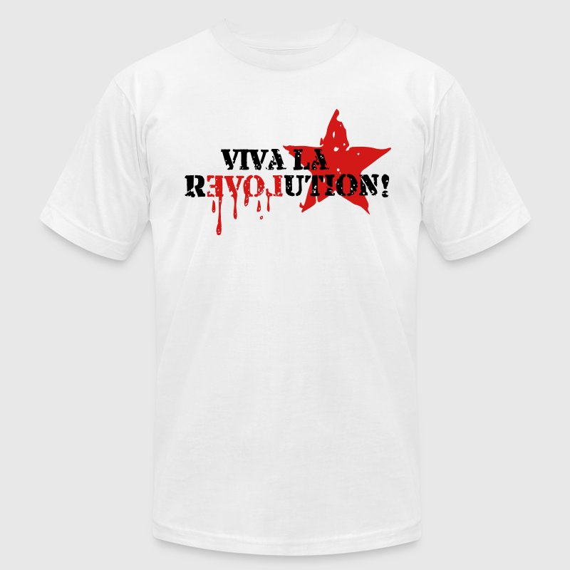 VIVA LA REVOLUTION, CUBA, RED STAR, ANARCHY, PUNK T-Shirts - Men's Fine Jersey T-Shirt