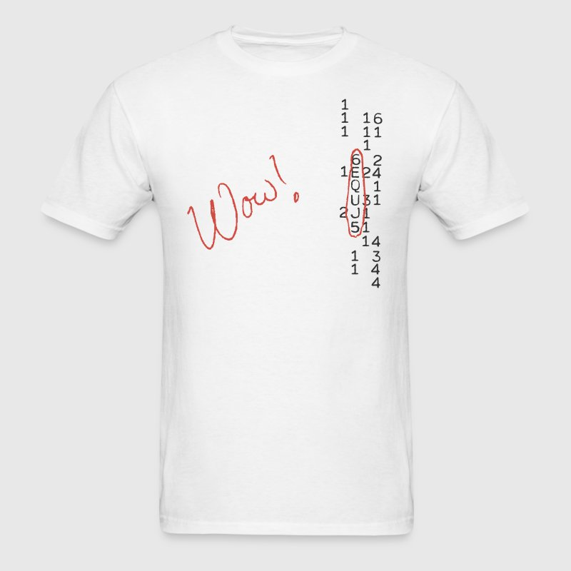 Wow Signal SETI Message - Men's T-Shirt
