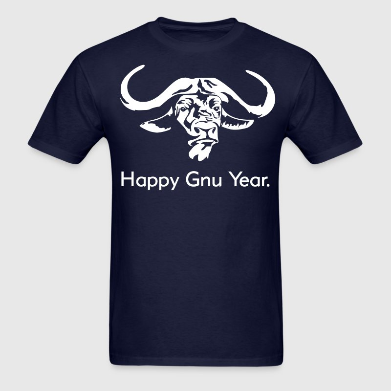 Happy Gnu Year T-Shirts - Men's T-Shirt