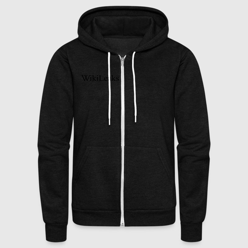 Free Press Free Assange Hoodies - Unisex Fleece Zip Hoodie by American Apparel