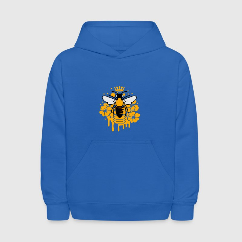 A bee with a crown Sweatshirts - Kids' Hoodie