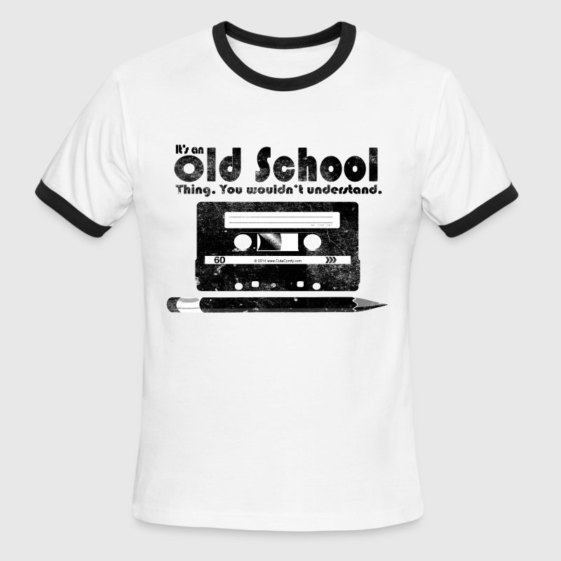 Old School Thing Cassette Retro 80s T Shirt Spreadshirt