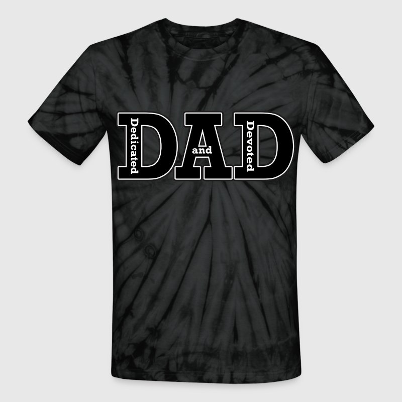 Dedicated and Devoted Dad T-Shirts - Unisex Tie Dye T-Shirt