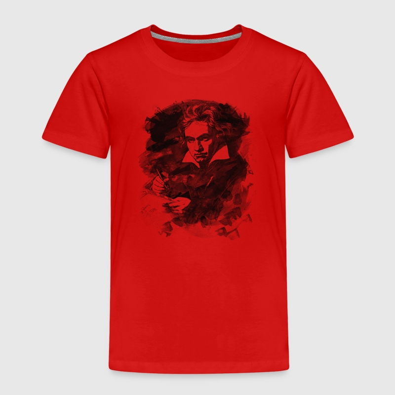 Ludwig van Beethoven - Abstract Watercolor Style Baby & Toddler Shirts - Toddler Premium T-Shirt