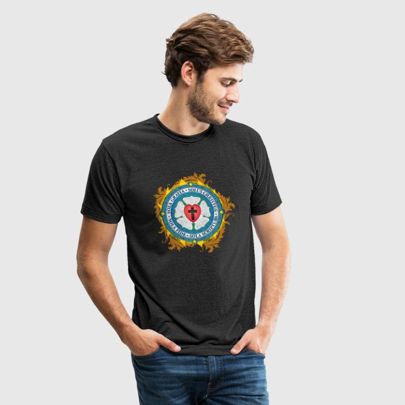 Luther Rose Lutheran Seal - Unisex Tri-Blend T-Shirt