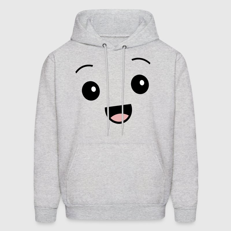 Kawaii Happy Face Smiley Cute Hoodies - Men's Hoodie