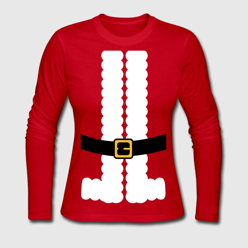Santa Claus Suit Shirt Long Sleeve Shirts - Women's Long Sleeve Jersey T-Shirt
