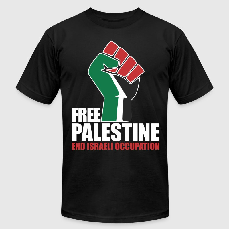 Free Palestine End Israeli Occupation T-Shirts - Men's Fine Jersey T-Shirt