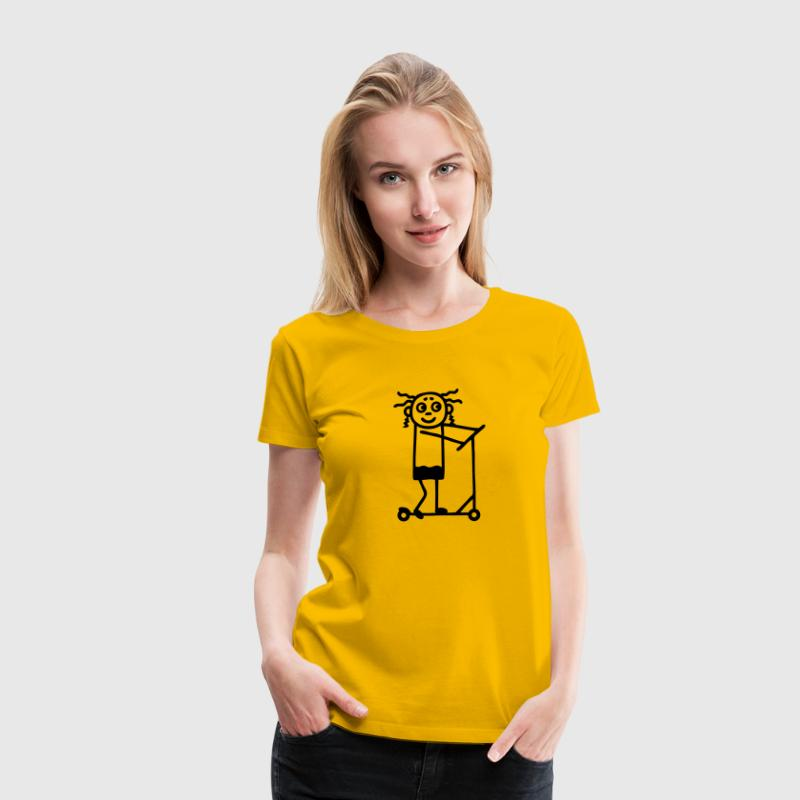 Kick Scooter / board - Girl Women's T-Shirts - Women's Premium T-Shirt