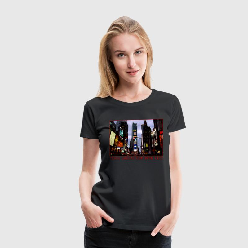 New York Souvenir T-shirt Women's Time Square Shir - Women's Premium T-Shirt