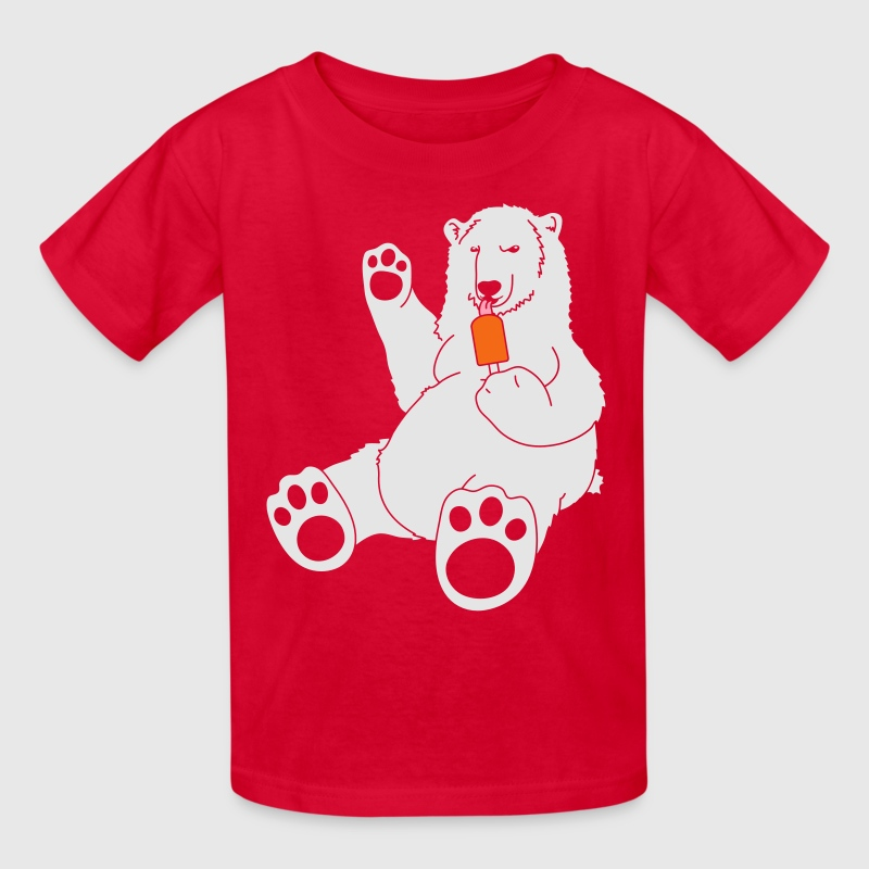 Polar Bear w/ Popsicle Kids' Shirts - Kids' T-Shirt