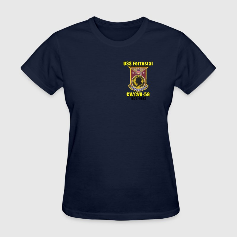 USS Forrestal CV-59 Ladies Tribute Shirt - Women's T-Shirt