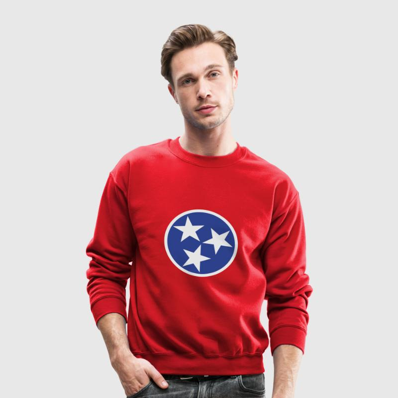 Tennessee State Flag Long Sleeve Shirts - Crewneck Sweatshirt
