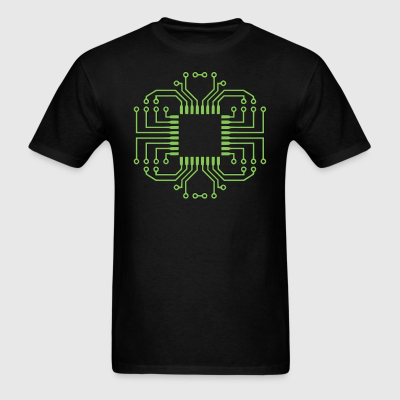 Electric Circuit Board Processor T-Shirts - Men's T-Shirt