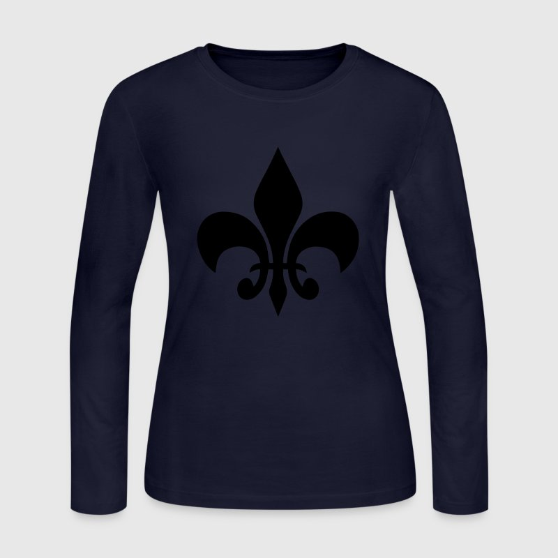 Fleur de Lis Long Sleeve Shirts - Women's Long Sleeve Jersey T-Shirt