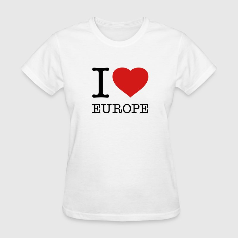 I LOVE EUROPE - Women's T-Shirt