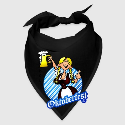 Oktoberfest - girl in a dirndl Bags & backpacks - Bandana