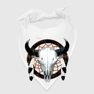 Bison skull on dream catcher  - Bandana