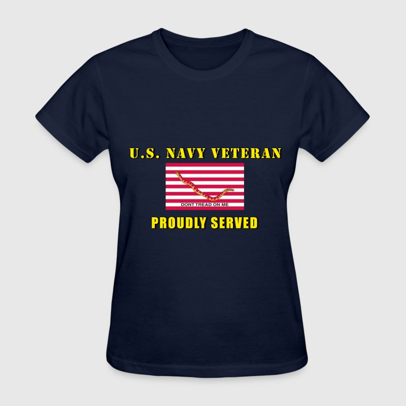 Ladies Navy Veteran Shirt - Women's T-Shirt