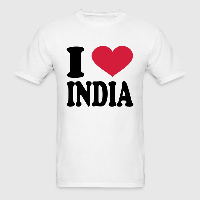 I Love India T-Shirts - Men's T-Shirt