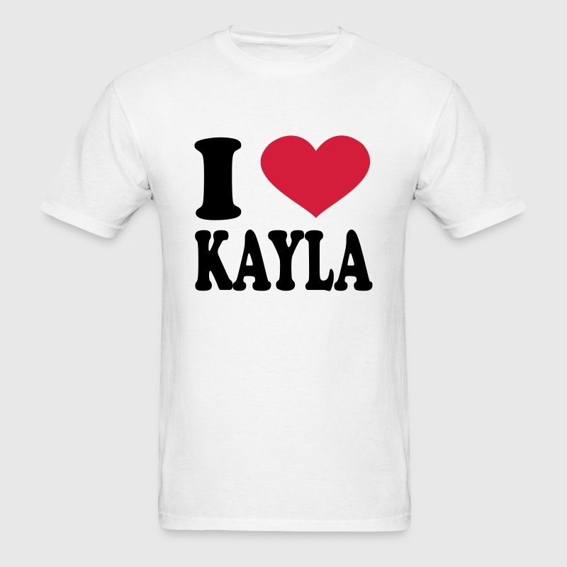 I Love Kayla T-Shirts - Men's T-Shirt