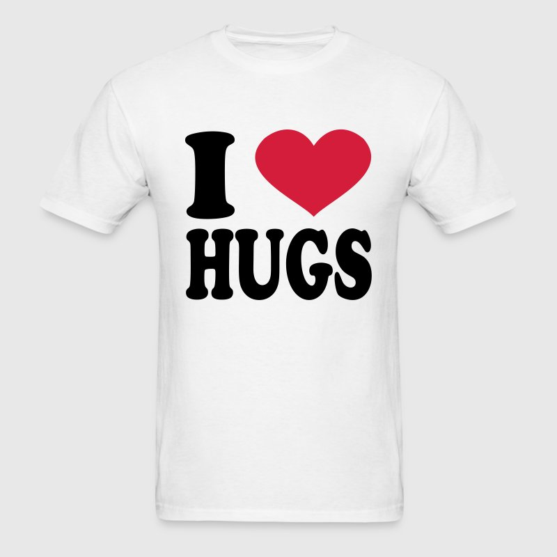 I Love Hugs T-Shirts - Men's T-Shirt