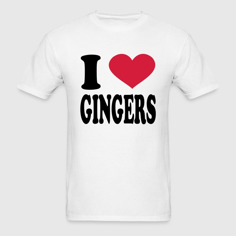 I Love Gingers T-Shirts - Men's T-Shirt