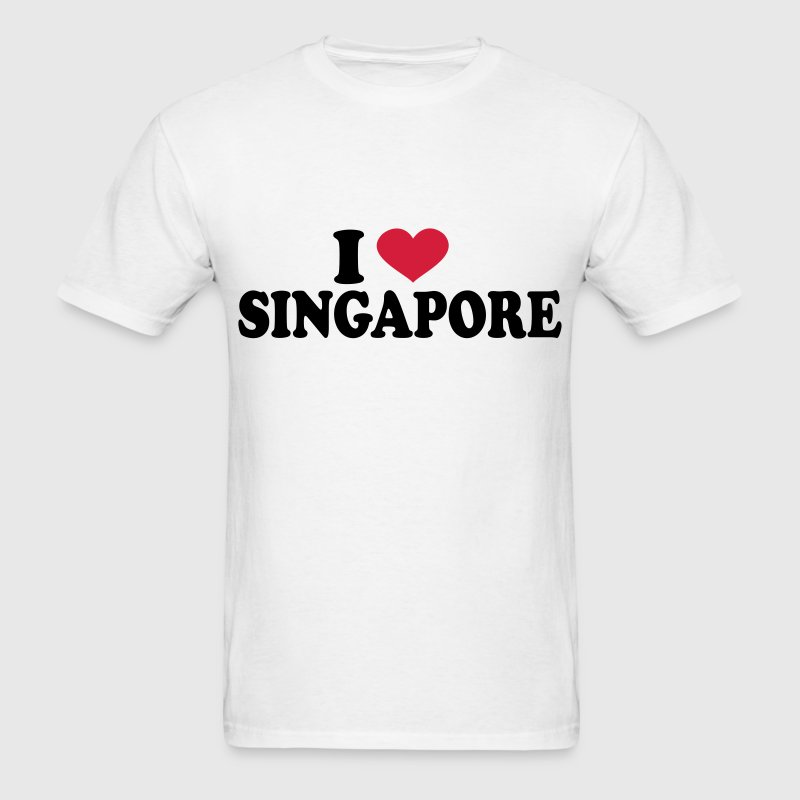 I Love singapore T-Shirts - Men's T-Shirt