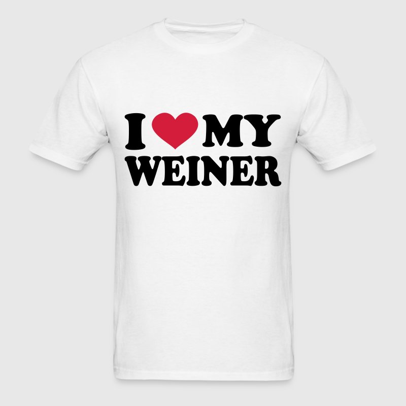 I Love My weiner T-Shirts - Men's T-Shirt