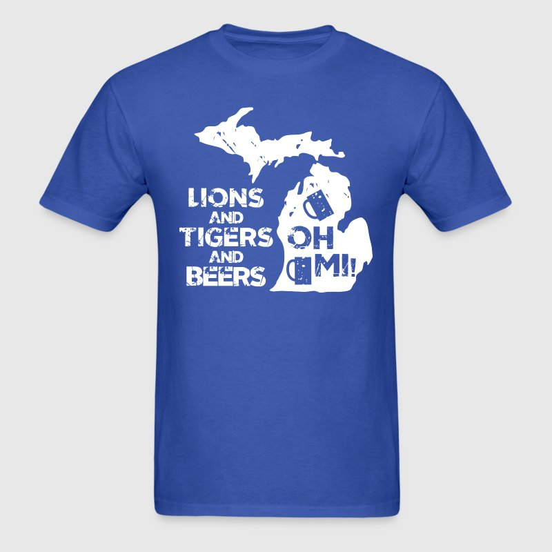LIONS & TIGERS & BEERS, OH MI! T-Shirts - Men's T-Shirt