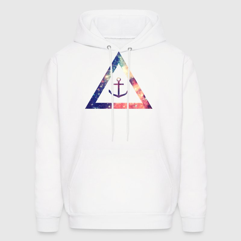 Galaxy / universe / hipster triangle with anchor Hoodies - Men's Hoodie