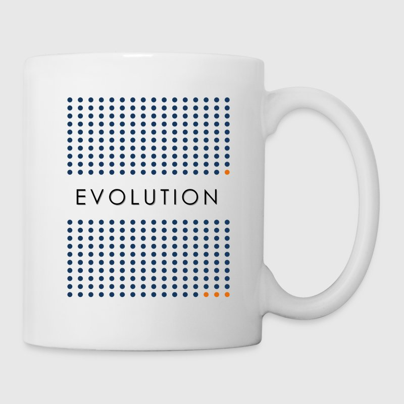 Minimalist design: evolution (light background) Bottles & Mugs - Coffee/Tea Mug