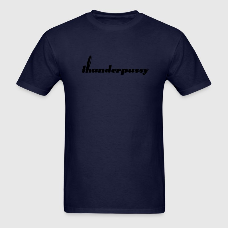 Blue Thunderpussy on blue tee - Men's T-Shirt