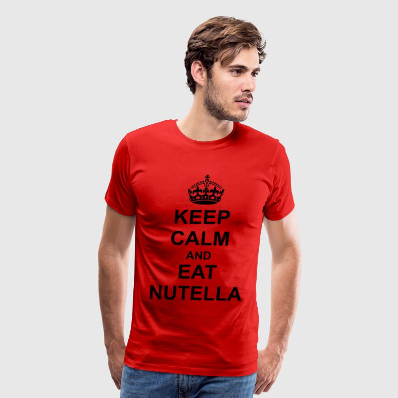 Keep Calm And eat nutella T-Shirts - Men's Premium T-Shirt