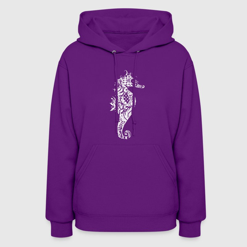 A fancy Seahorse (white contours) Hoodies - Women's Hoodie