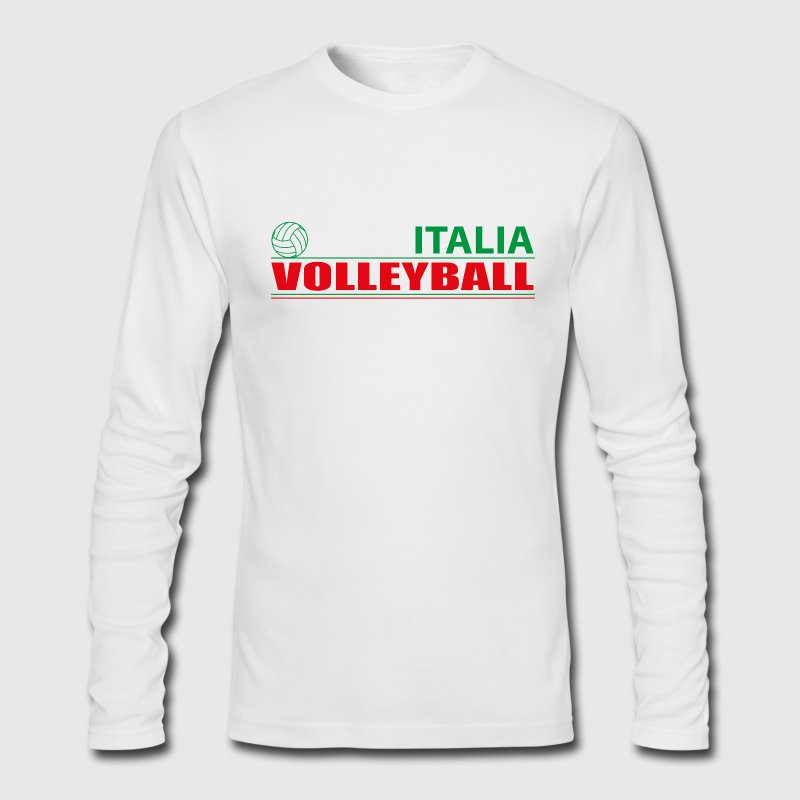 Volleyball Italia Long Sleeve Shirts - Men's Long Sleeve T-Shirt by Next Level