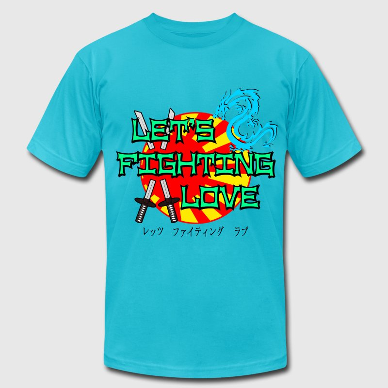 Let's Fighting Love - Men's T-Shirt by American Apparel