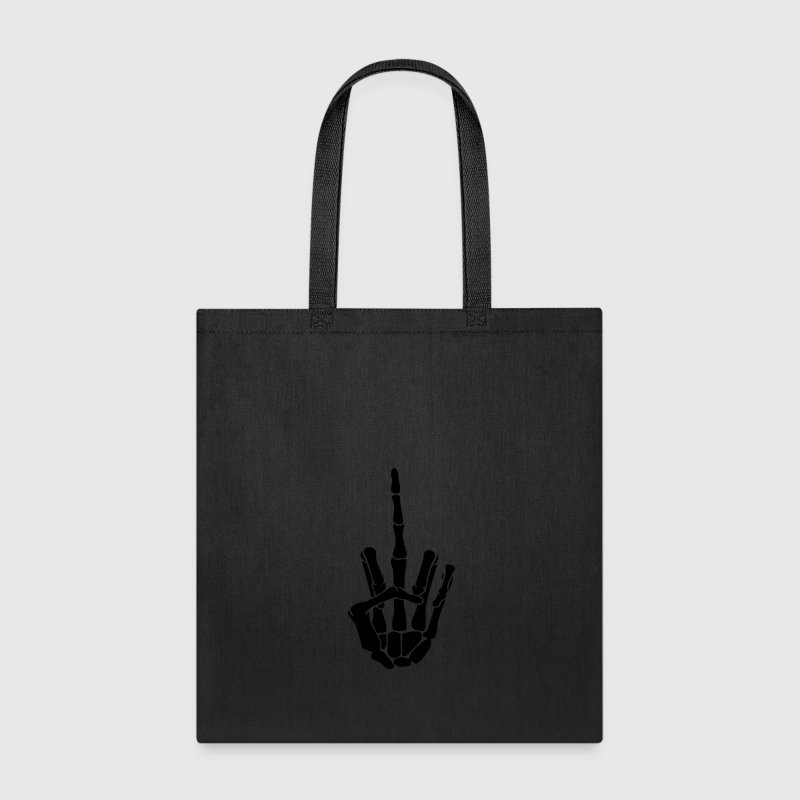 Fuck Off Skeleton Hand Bags & backpacks - Tote Bag
