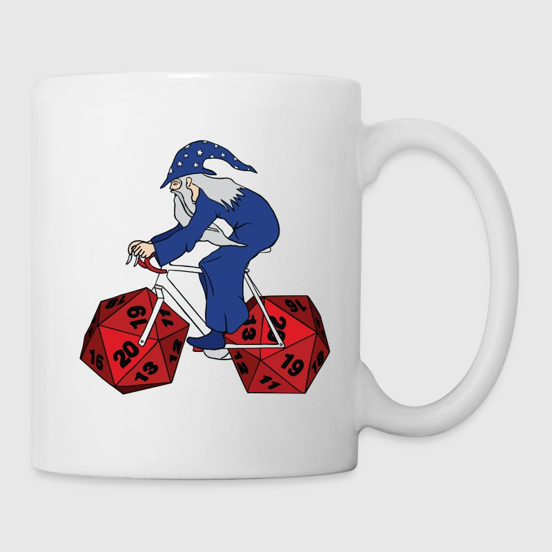 wizard riding bike with 20 sided dice wheels Drinkware - Coffee/Tea Mug