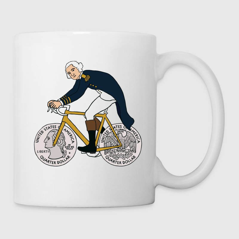 george washington on bike with quarter wheels Drinkware - Coffee/Tea Mug