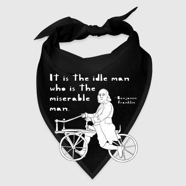 ben franklin cycling quote Bags & backpacks - Bandana